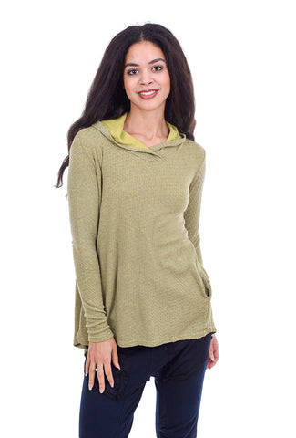 Cut Loose Tonal Dot Hoodie, New Leaf Green