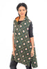 Godhari Kantha Hooded Vest, Forest Green One Size Green