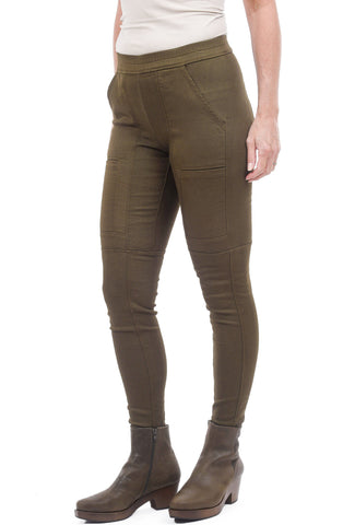 Wilt Seamed Pocket Skinnies, Army Tank