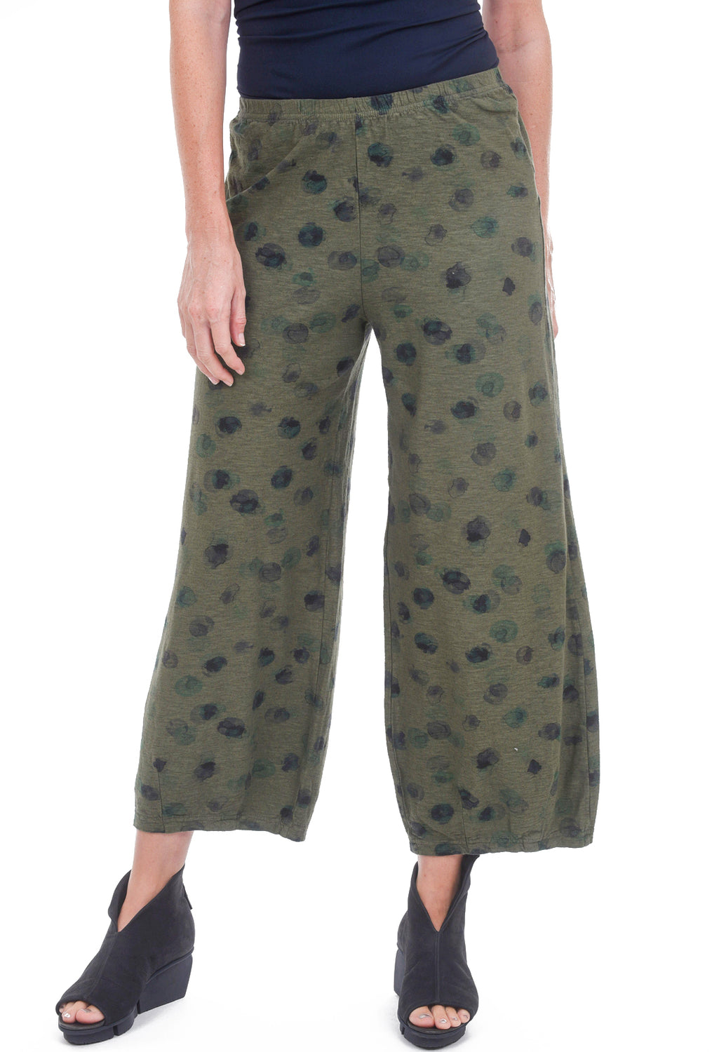 Cut Loose Ink Spot Cropped Jersey Pant, Gris
