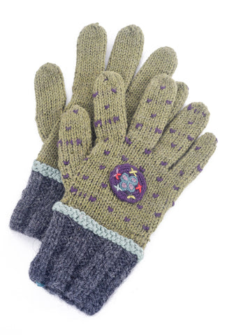 Little Journeys Gloves, Seurat Green