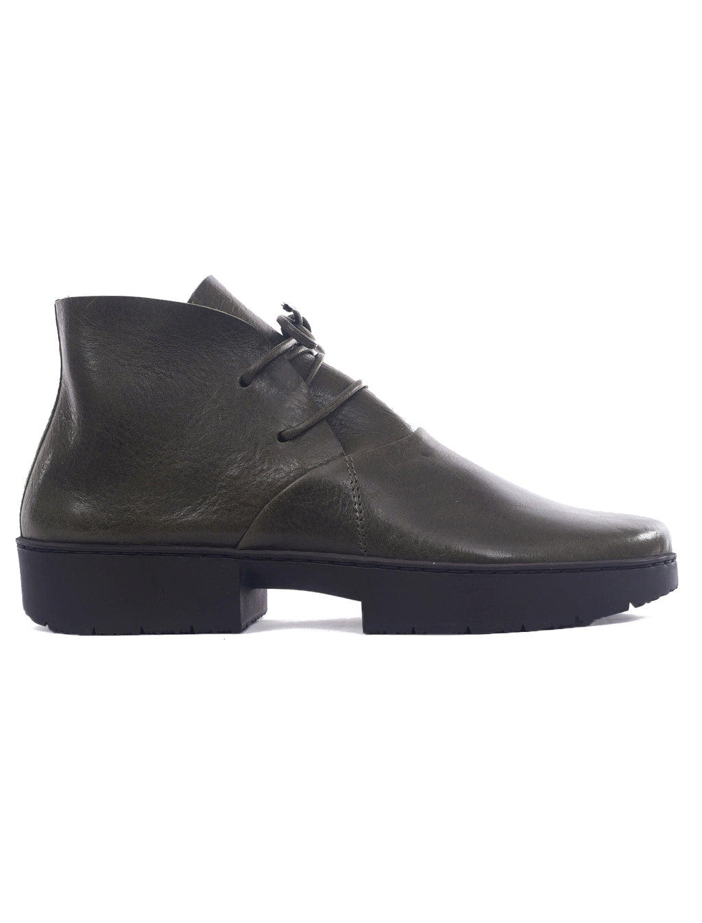 Trippen Shoes Stiff Closed Oxfords, Forest Green