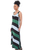 Alembika Stripe Jersey Maxi Dress, Green