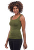 Tees by Tina Smooth Tank, Olive One Size Olive