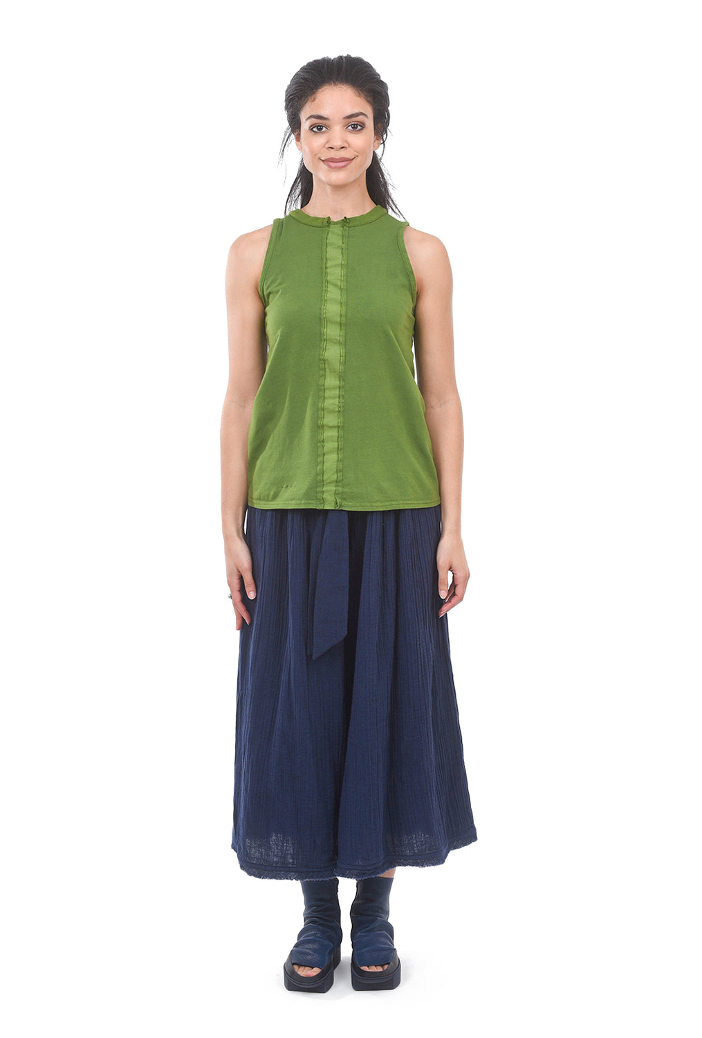 Amma Contrast-Center Tank, Green