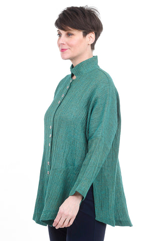 M Square Long Vent Jacket, Field Green