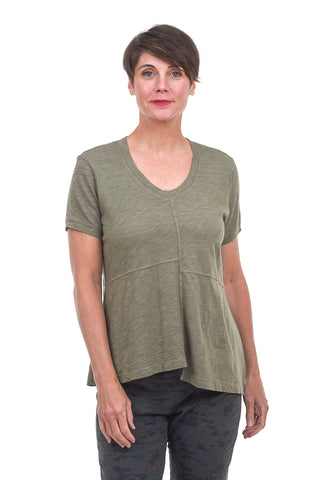 Shrunken Shifted Seamed Tee, Cactus