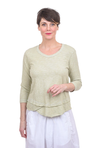 Wilt 3/4-Sleeve Mock Layer Tee, Celadon