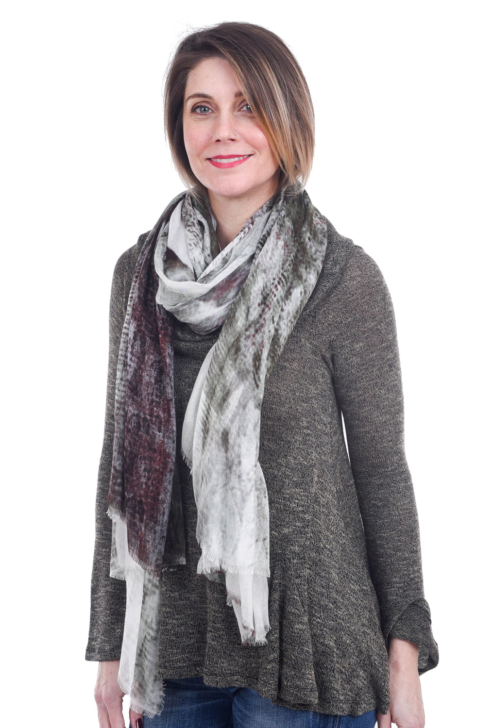 Blue Pacific Wild Horses Scarf, Olive One Size Olive
