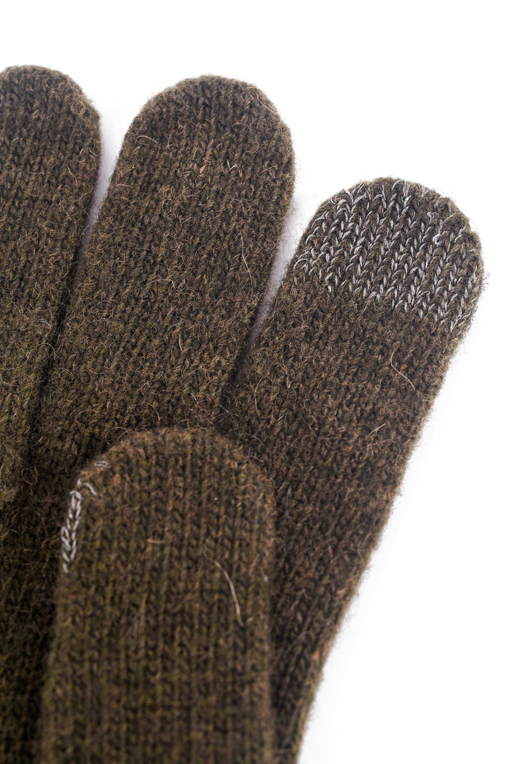 Santacana Madrid Button-Cuff Knit Gloves, Army One Size Army