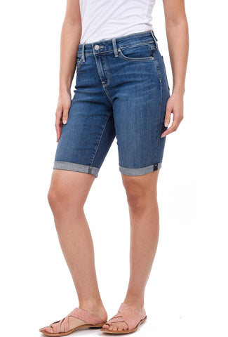 NYDJ Briella Roll Cuff Shorts, Blue Heyburn Wash