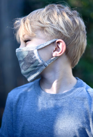 Coin1804 Coin Face Mask, Kid Camo