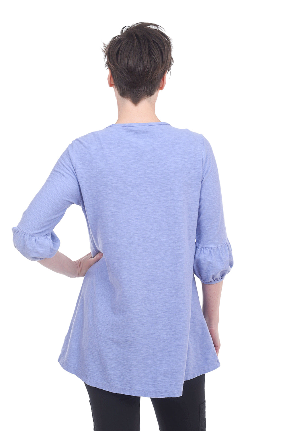 Cut Loose Bubble-Sleeve Tunic, French Lavender