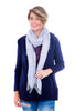 Blue Pacific Tissue Solid Scarf, Silver Blue Blue