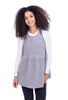 POL Clothing Zipper-Back Chenille Jumper, Gray