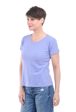 Cut Loose Short-Sleeve Bias Tee, French Lavender