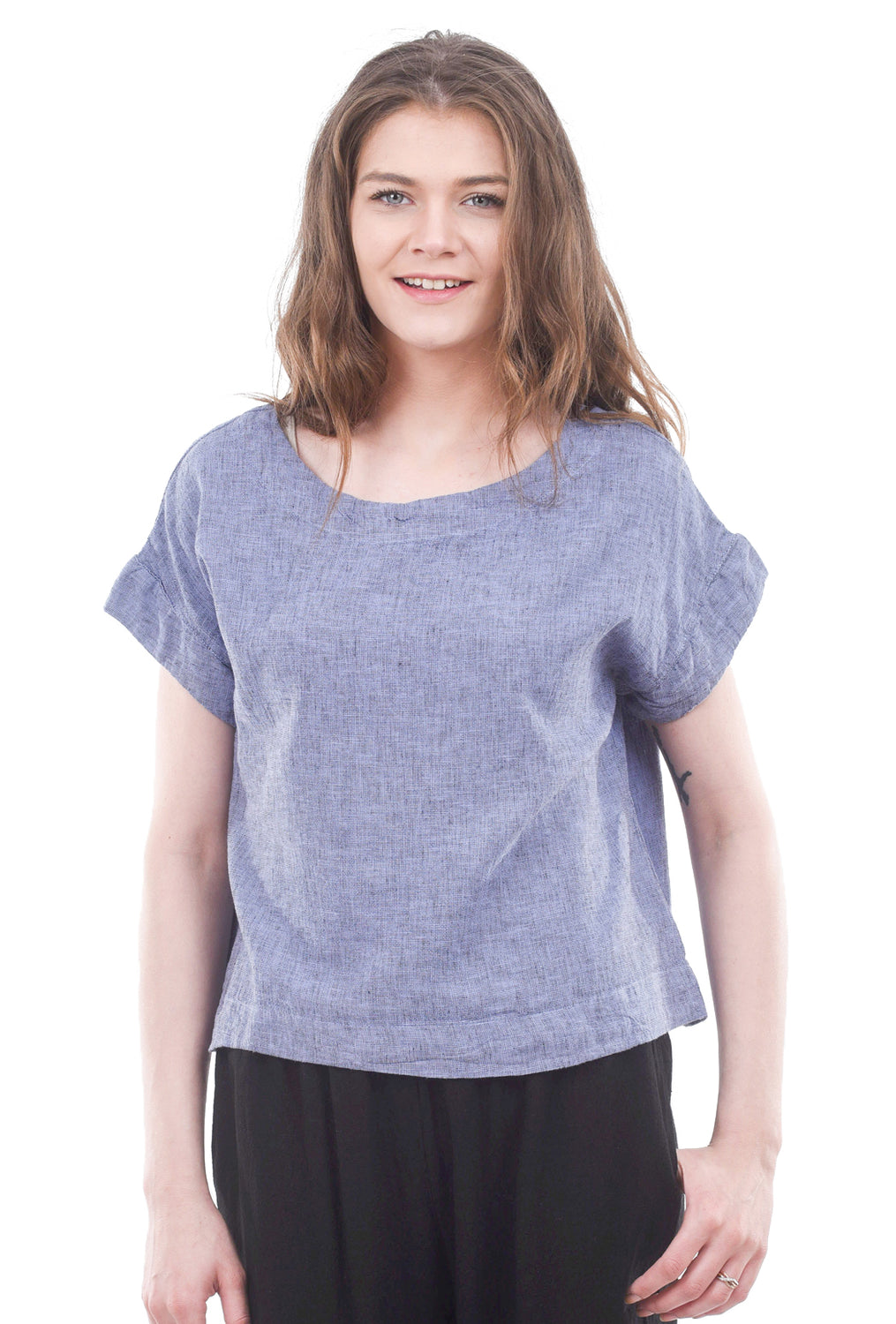 Cut Loose Crosshatch S/S Top, French Lavender