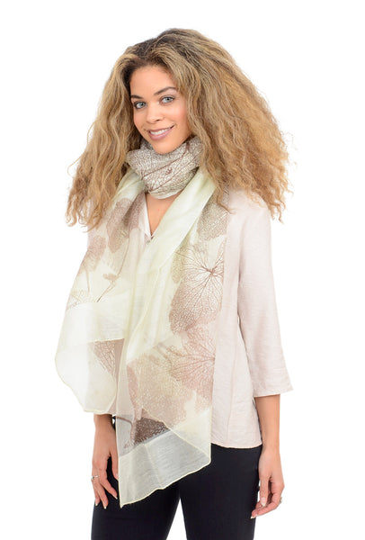 Paisley Road Bare Tree Scarf, Light Gray