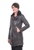Mauritius Gabanna Leather Coat, Anthracite