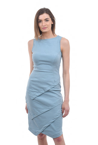 Porto Novella Dress, Dusty Blue