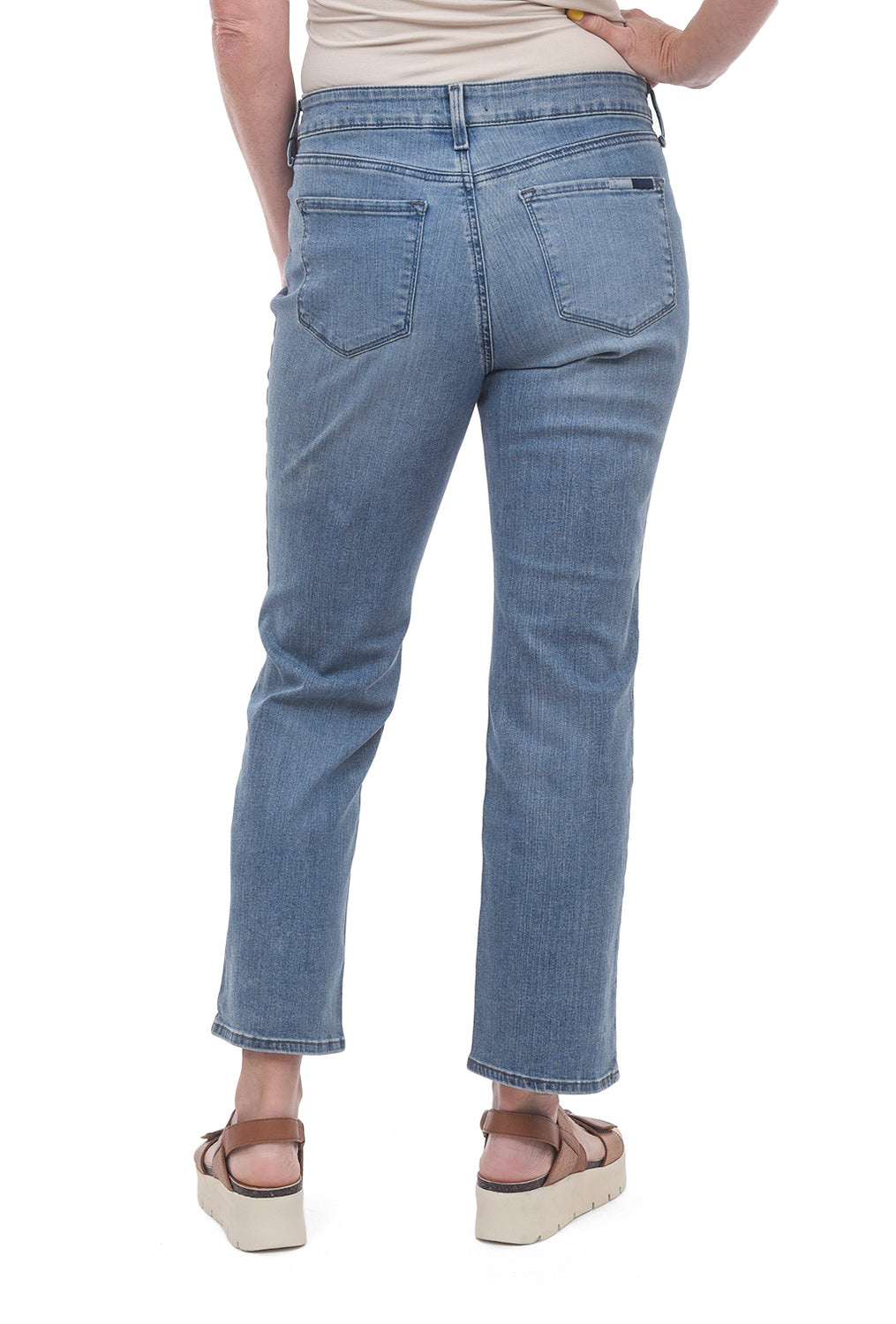 NYDJ Marilyn Straight Ankle Jeans, Pacific Blue