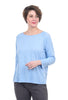 Lilla P 3/4-Sleeve Pleat Back Tee, Hydrangea