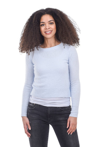 Margaret O'Leary Knits Bella Pullover Sweater, Ice Blue