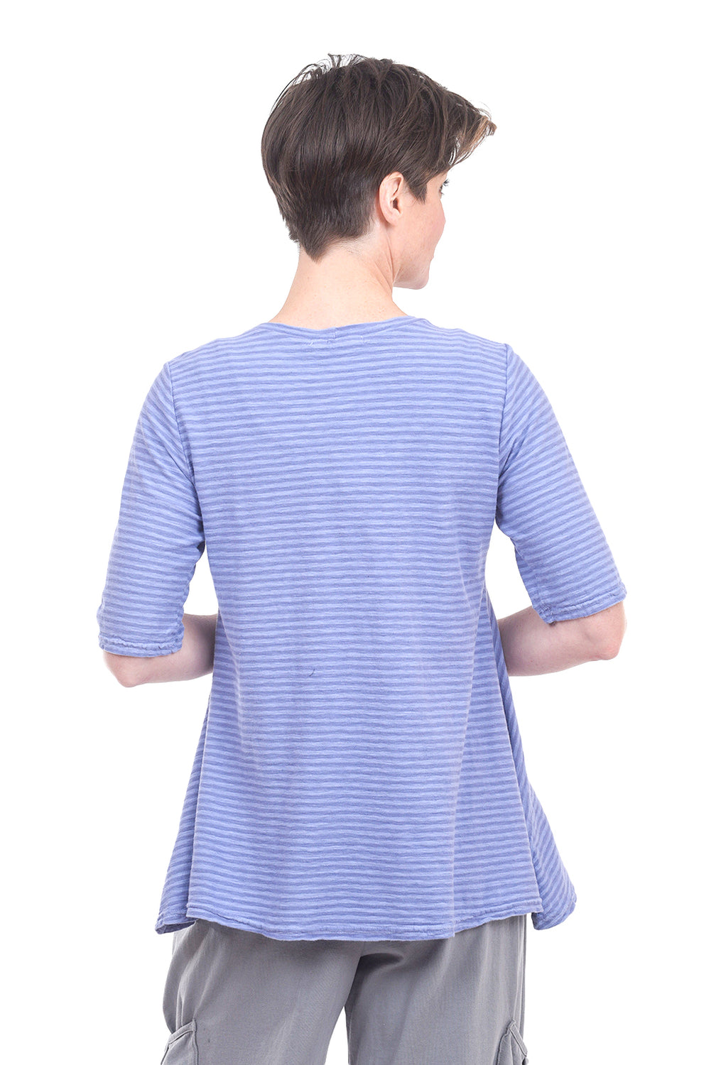 Cut Loose Linen Stripe Swing Top, French Lavender