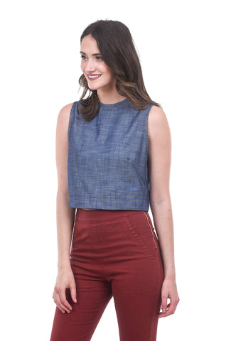 Prairie Underground Site Top, Chambray