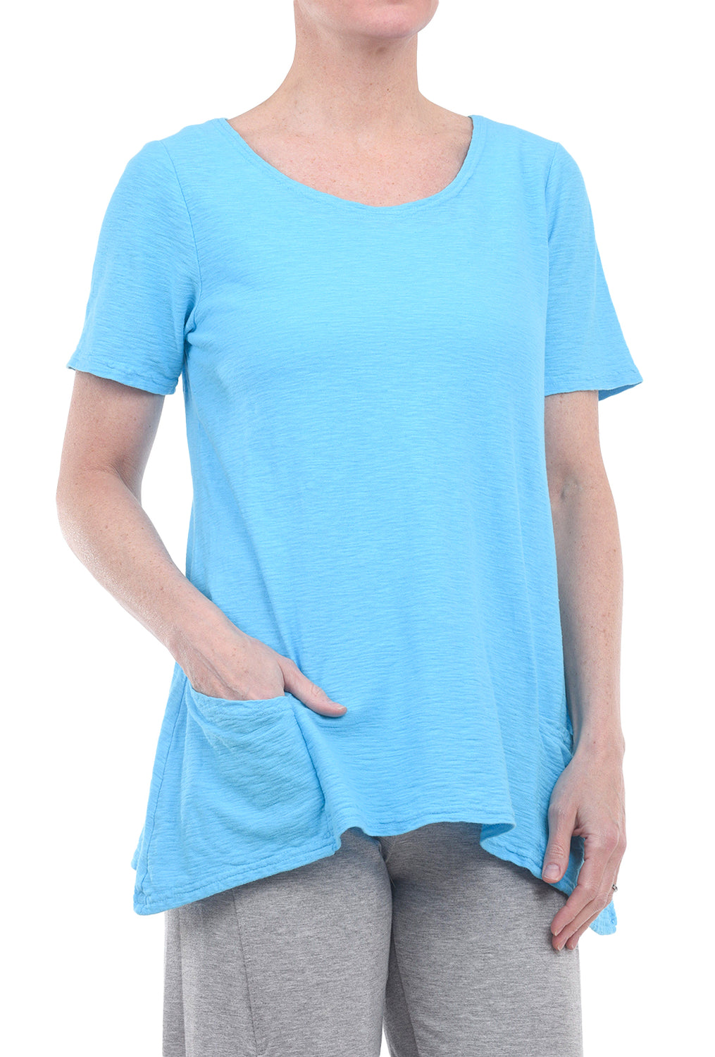 Cut Loose Pocket Swing Tee, Atoll Blue