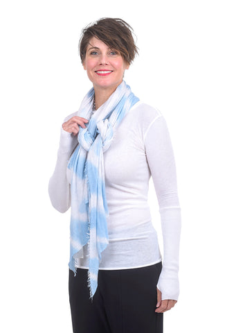 Grisal Cashmere Love Boho Scarf, Light Blue One Size Blue