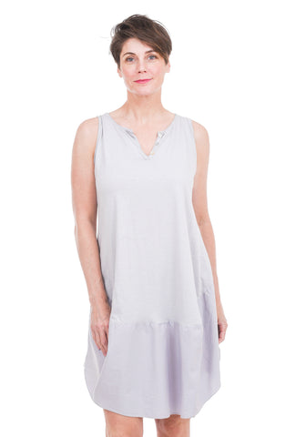 Oro Bonito Button-V Easy Dress, Silver One Size Silver