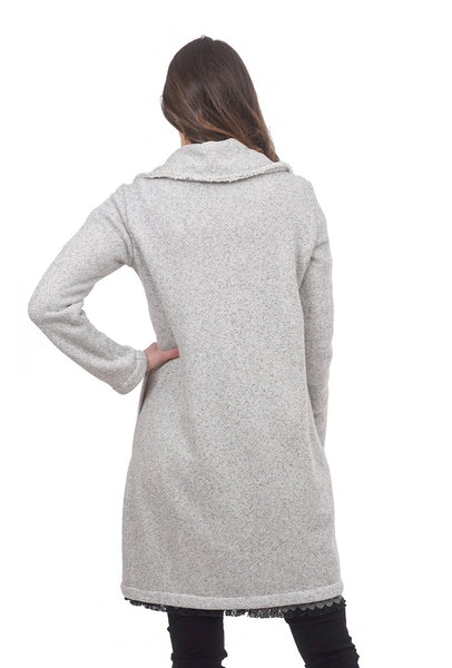 Barefoot Dreams Essential Long Cardie, Carbon