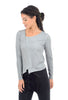 Luukaa Margaret Garment-Dyed T-Shirt, Gray