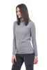 Sisters Spare TNeck Sweater, Medium Gray