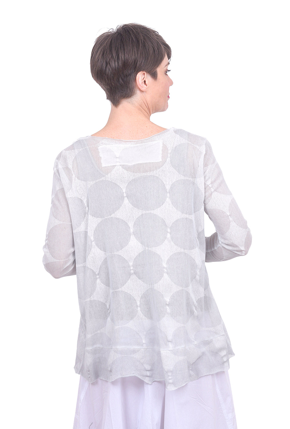 Rundholz Black Label L/S Mesh Dots Tee, Gray