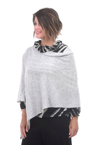 In Cashmere Cashmere Ruana, Heather Fog One Size Fog