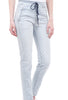 Alembika Crinkled Striped Denim Skinnies, Blue