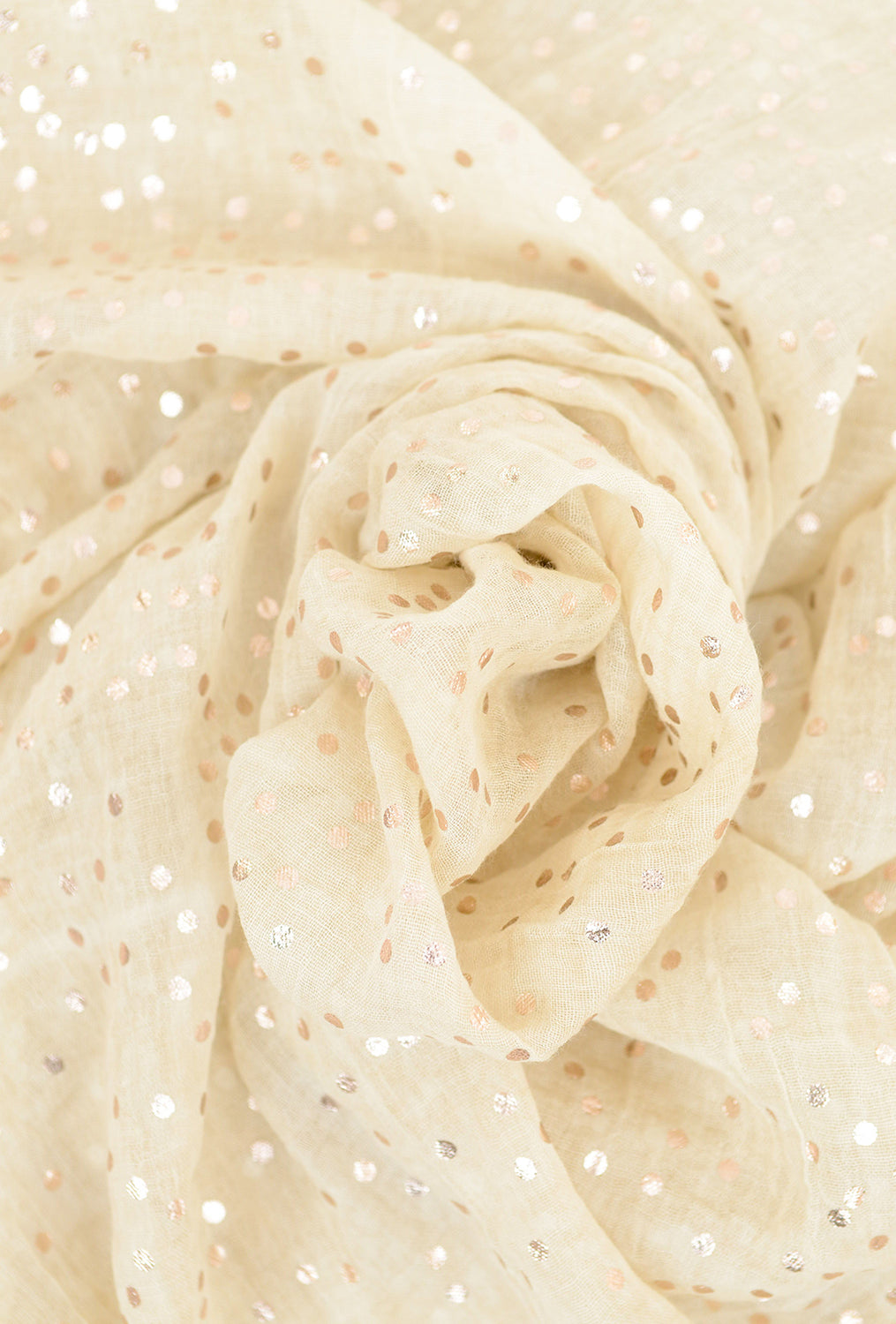 Paisley Road Lurex Accents Scarf, Taupe Dot