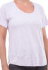Lilla P Short-Sleeve Scoop Tee, Lilac