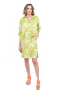 Snapdragon & Twig Ingrid Shirt Dress, Lime