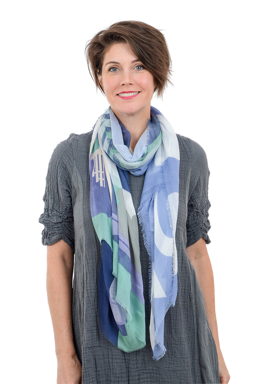 Blue Pacific Vintage Locale Scarf, London