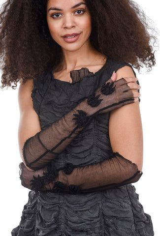Rundholz DIP Dimensional Posy Long Gloves, Black