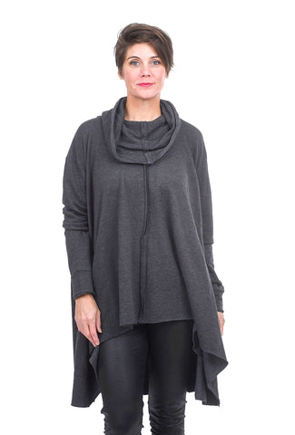 Planet Chic Cowl Tunic, Asphalt One Size Asphalt