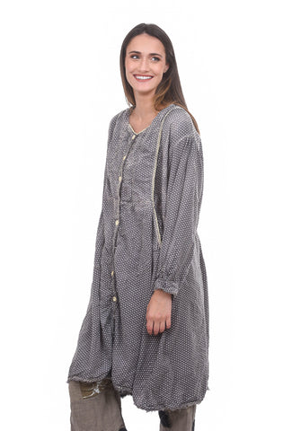 Magnolia Pearl St. Anny Smock Dot Dress, Abbey Gray One Size Gray