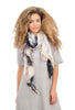 Blue Pacific Love Scarf, Black/White