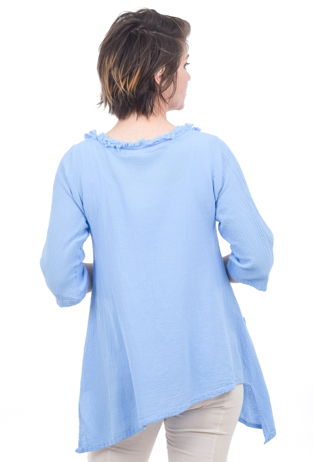 Cottonways Zoe Cotton Gauze Tunic, Cloud