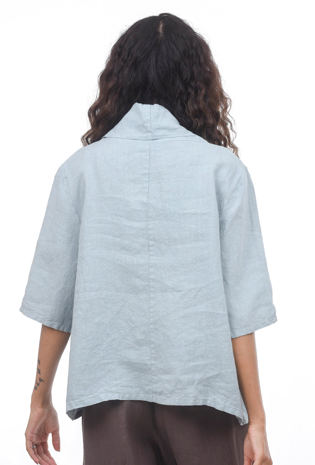 Bryn Walker Linen Nola Shirt, Seashore Blue