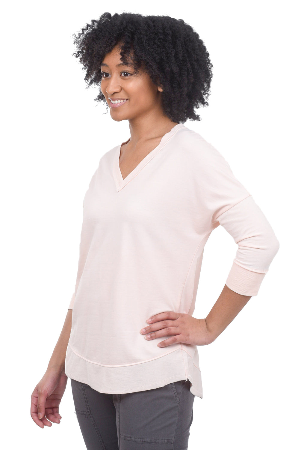 Wearables by XCVI Fira Pullover, Bellini Pink