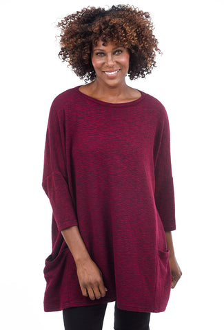 Cut Loose Crimped One-Size Pullover, Cranapple One Size Cranapple